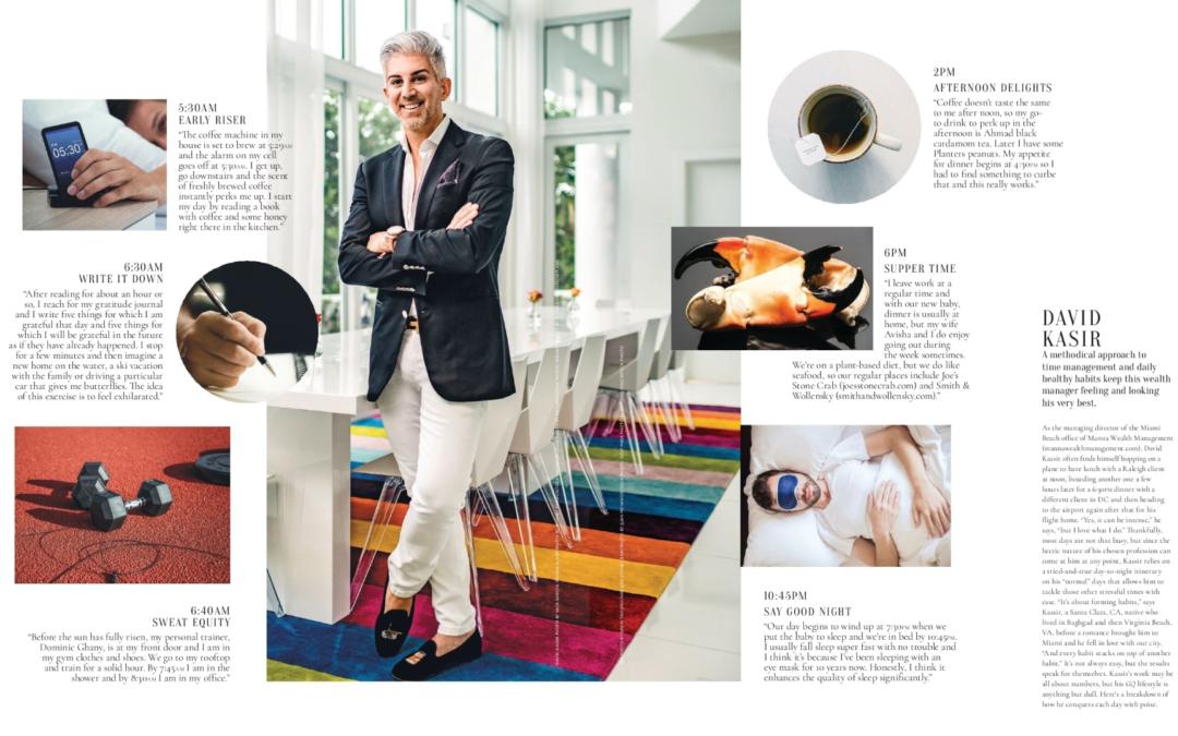 Miami Magazine – On The Clock feature Spotlights Miami Financial Advisor David D. Kassir