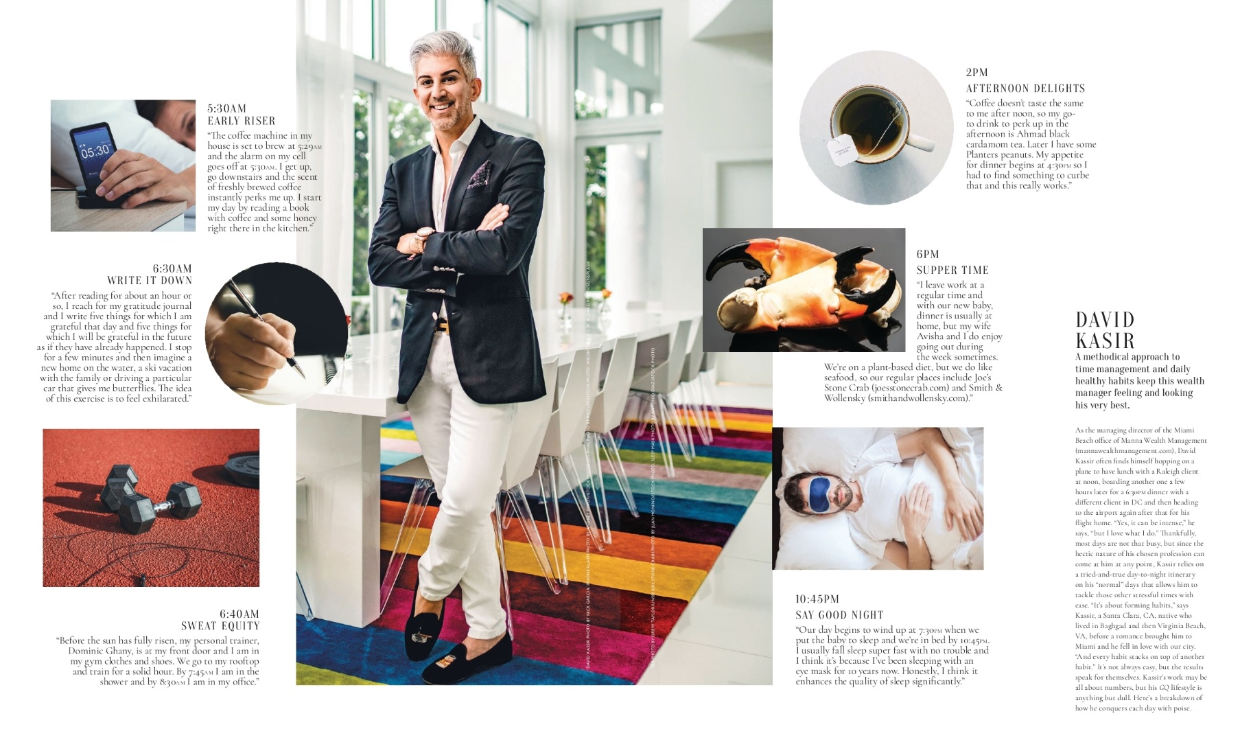 Miami Magazine – On The Clock feature Spotlights Miami Financial Advisor David D. Kassir